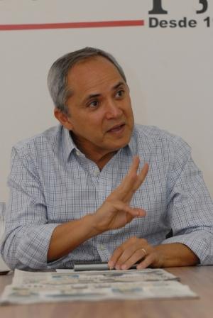 Bittencourt durante entrevista ao Jornal Opção | Foto: Marcello Dantas