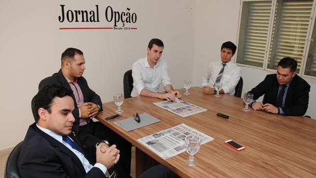 Juventude do PSDB reunida no Jornal Opção | Foto: Renan Accioly