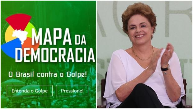 """Mapa da Democracia divide deputados entre """"democratas"""", """"golpistas"""" e """"indecisos"""""""