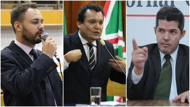 Vereadores Mizair Lemes Jr. e Felisberto Tavares: defesa do Delegado Waldir | Fotos: Alberto Maia / Renan Accioly