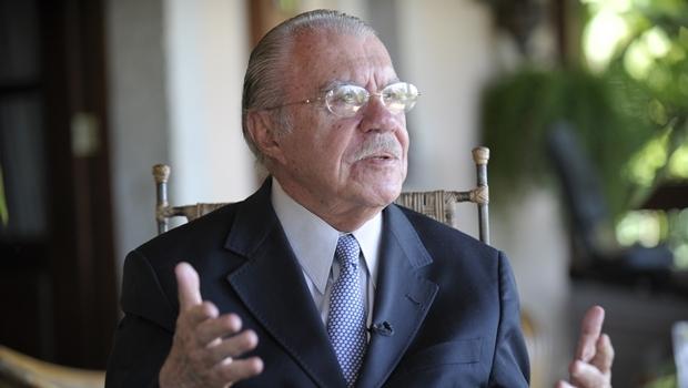 Ex-presidente José sarney foi gravado em convrsa com o ex-presidente da Transpetro, Sérgio Machado   Foto: Jefferson Rudy/Agência Senado