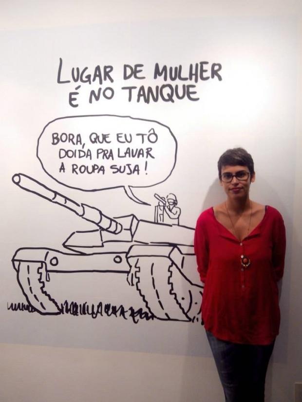 Thais Gualberto é cartunista 2-tanque