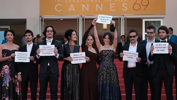 """Em Cannes, atores e cineastas denunciam """"golpe de Estado"""" no Brasil"""