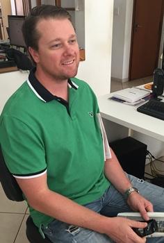 Craig durante visita ao Jornal Opção