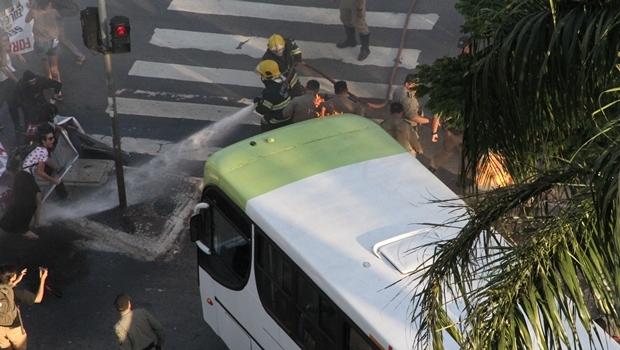 Protesto terminou em confursão com várias pessoas feridas | Foto: Humberto Silva / Comunicação PM5