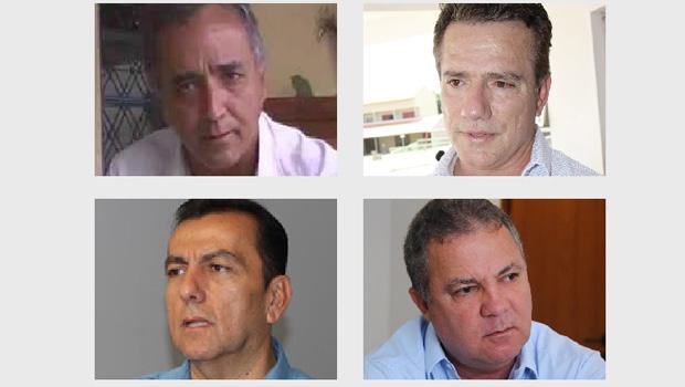 Divino Lemos, Alsueres Mariano, Zélio Cândido e Misael Oliveira: o postulante que terá mais dificuldade na eleição é o quarto