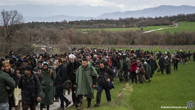 Idomeni, Grécia – No dia internacional do Refugiado, comemorado hoje (20), Nações Unidas revelam que número de pessoas deslocadas por conflitos no mundo chega a 65 milhões o maior já registrado | Foto: Manu Gomez/ Fotomovimiento (14/03/2016)