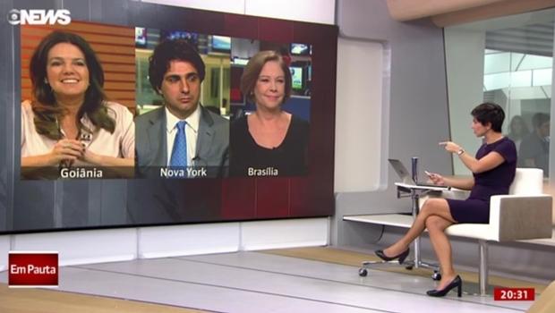 Jornalista e comentarista Mara Luquet destacou ajuste fiscal do governo goiano no programa Globo News em Pauta na sexta-feira (17/6)   Foto: Reprodução/Globo News