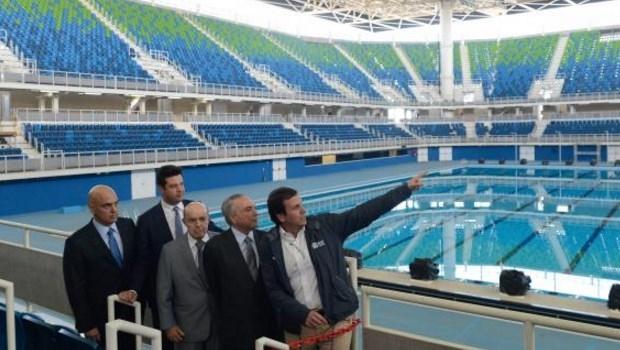 O presidente interino Michel Temer e ministros do governo visitam o Parque Olímpico Rio 2016 | Foto: Tânia Rêgo/Agência Brasil