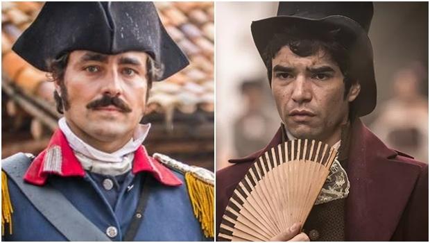 Ricardo Pereira e Caio Blat vivem par romântico na novela | Fotos: reprodução/ Rede Globo