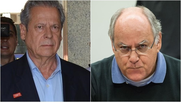 José Dirceu e Renato Duque foram indiciados por corrupção ativa e passaiva e por participação em quadrilha | Foto: Fabio Rodrigues Pozzebom e Marcelo Camargo / Agência Brasil