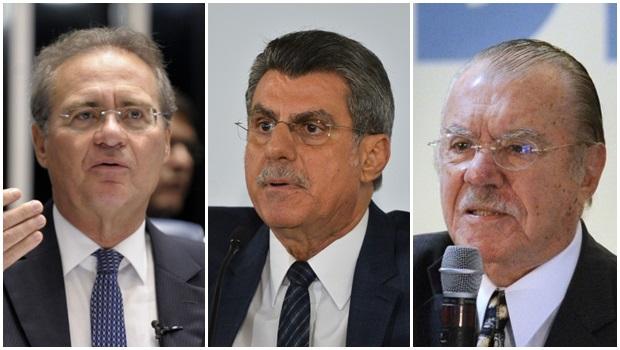 Resultado de imagem para Sarney, Renan, Jucá e Sérgio Machado