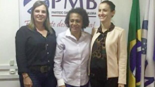 vice-governadora Claudia Lellis, Suêd Haidar, presidente do pmb, e Meire Carreira: força feminina abre espaço na política brasileira | Foto: divulgação