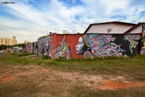 Arte urbana na Praça do Bacião: local será um dos 4 pontos do Setor Sul remodelados pelo Casa Fora de Casa | Foto: Polli de Castro