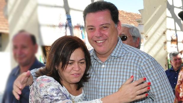 Prefeita reeleita da Cidade de Goiás, Selma Bastos, e governador Marconi Perillo | Foto: Governo de Goiás