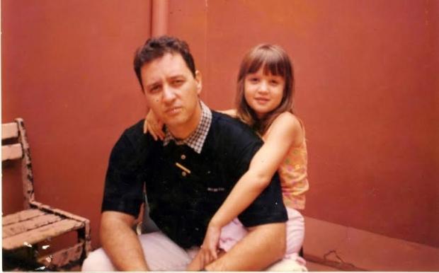 Valério Luiz e sua filha Laura
