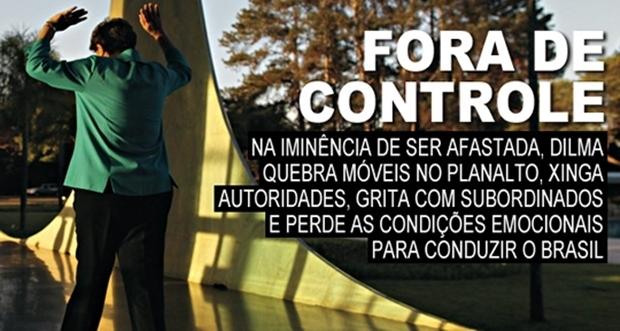 Matéria publicada por IstoÉ sugeria que Dilma havia enlouquecido