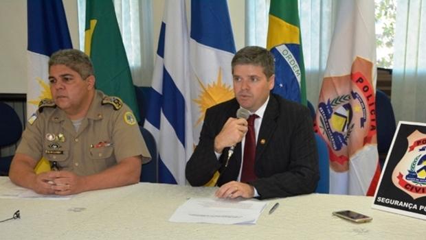 Comandante Glauber e delegado Roger: foco maior na segurança