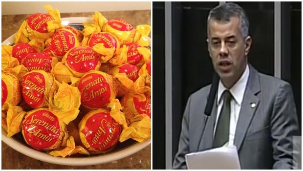 """Deputado federal sobe no plenário para defender bombom """"Serenata de Amor"""""""