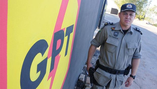 Há cinco meses no comando do policiamento de Senador Canedo, major Vanderlan afirma que o trabalho ostensivo e integrado tem dado mais segurança à cidade | Foto: Renan Accioly