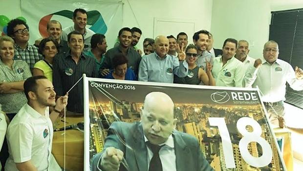 Em convenção, Rede oficializa candidatura de Djalma Araújo à prefeitura