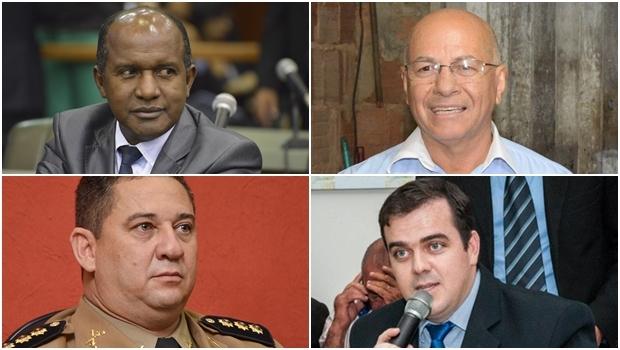 Alcides Ribeiro, Marlúcio Pereira, Silvio Benedito e Gustavo Mendanha: um deles deve convencer o eleitor de que é o substituto ideal de Maguito Vilela