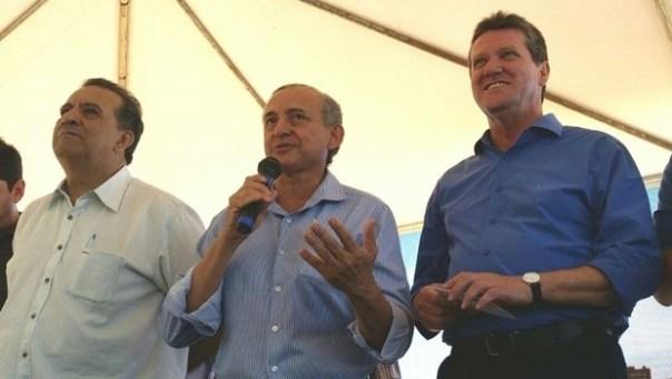 Ex-presidente do PSDB Goiânia, Maurício Beraldo; vereador Anselmo Pereira; pré-candidato Vecci