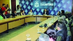 Reunião de lançamento do complexo prisional Serra do Carmo