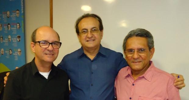 Luiz Rufatto, Edival Lourenço e Itaney Campos: escritores | Do Facebook do novo integrante da Academia Goiana de Letras
