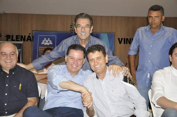 Marconi Perillo, Pedro Fernandes e Júlio da Retífica: pacto com o deputado e o governador para recuperar Porangatu   Foto: divulgação