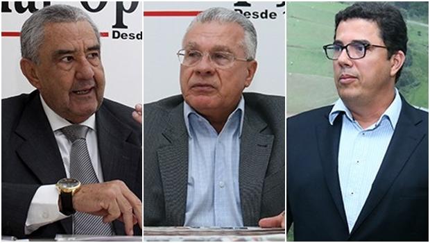Justiça libera presidente da Saneago, José Taveira; presidente do PSDB em Goiás, Afrêni Gonçalves e diretor da Saneago, Robson Salazar | Fotos: Jornal Opção