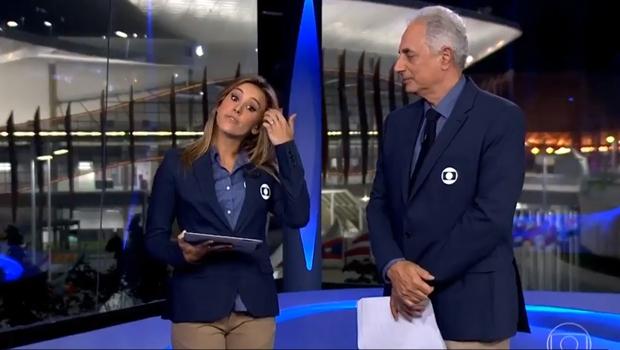 No Jornal da Globo, apresentadores se estranham e internet não perdoa