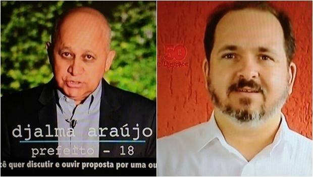 Com pouco tempo de TV, Djalma Araújo e Flávio Sofiati tiveram que ser rápidos e claros | Foto: Reprodução