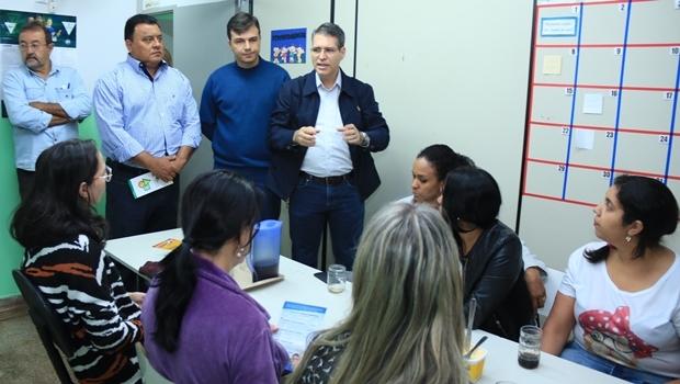 Francisco Jr em visita à Associação de Serviço à Criança Especial de Goiânia   Foto: Rafael Batista