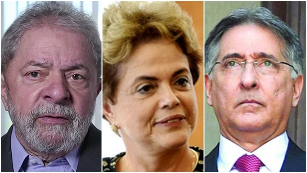 Lula da Silva, Dilma Rousseff e Fernando Pimentel: o governo do PT colocou o BNDES a serviço das chamadas nações amigas ideologicamente, como Venezuela, Cuba e Angola | Foto: Divulgação