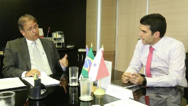 Marcelo Miranda e o ministro da Integração, Helder Barbalho | Foto: Divulgação