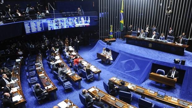 Plenário do Senado Federal durante sessão deliberativa extraordinária para votar a Denúncia 1/2016, que trata do julgamento do processo de impeachment da presidente afastada Dilma Roussefff por suposto crime de responsabilidade. Foto: Marcos Oliveira/Agência Senado