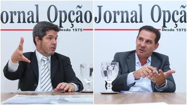 Waldir Soares está em segundo lugar, mas perdendo votos, enquanto Vanderlan Cardoso vai crescendo aos poucos   Fotos: Fernando Leite/ Jornal Opção