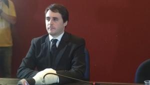 Advogado em primeira entrevista coletiva após atentado | Foto: Amanda Damasceno/ Jornal Opção
