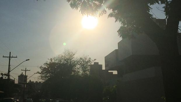 Fim de semana em Goiânia terá tempo quente e seco
