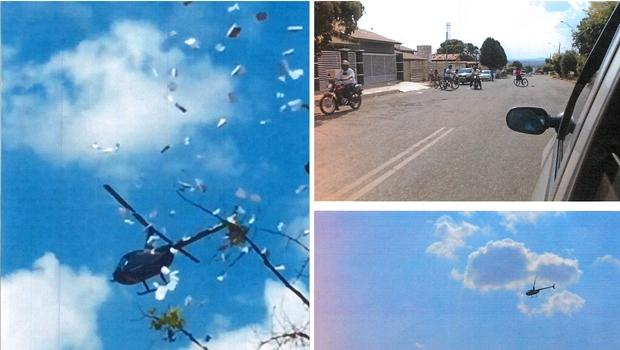 Candidato é denunciado por usar helicóptero para espalhar panfletos apócrifos em Goiás