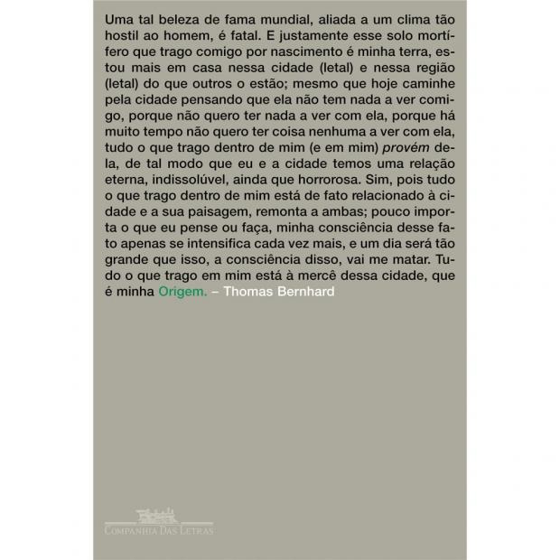 Thomas Bernhard capa do livro origem -114185