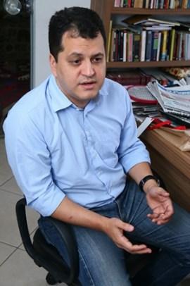 Agenor Mariano em visita  ao Jornal Opção | Foto: Fernando Leite