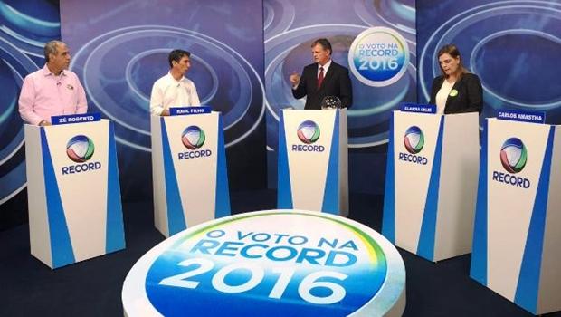 Debate na TV Record: Amastha falta mais uma vez