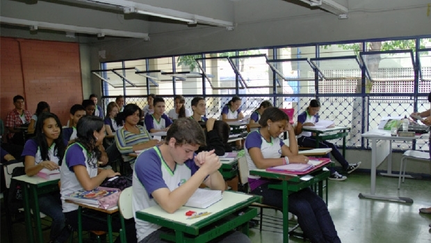 Escolas de Goiás aderiram ao programa do governo que vai ampliar o ensino médio em tempo integral nos próximos dois anos   Foto: Fernando Leite