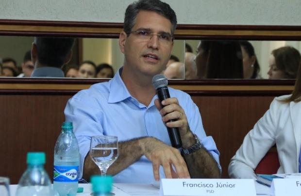 Francisco Jr. durante participação no evento   Foto: Rafael Batista
