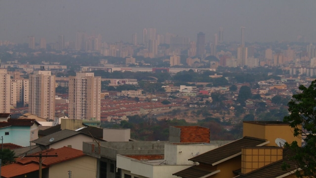 Goiânia apresenta névoa seca nesta quarta-feira (14) | Foto: Fernando Leite/Jornal Opção