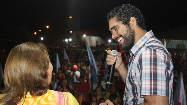Deputado Lincoln Tejota em campanha em Americano do Brasil