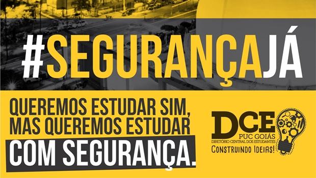 DCE quer discutir segurança dentro e nas imediações da PUC Goiás | Imagem: reprodução/ Facebook