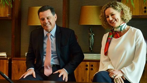 Marconi e Ana Carla Abrão durante hangout | Foto: Eduardo Ferreira